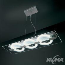 0-Sound lampa wisząca 3x22W 2GX13 230V transparentna