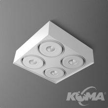 Squares Mini oprawa sufitowa 4x9,1W LED 230V biała (mat)