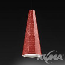 Null vector alfa czerwony 1x6W LED (E14)
