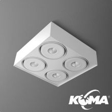 Squares Mini oprawa sufitowa 4x6,3W LED 230V biała (mat)