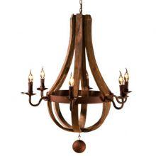 Cognac lampa wisząca rdzawa