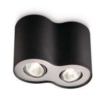 Pillar lampa sufitowa 2x50W GU10 230V czarna