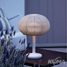 Garota mini lampa stołowa zewnętrzna IP55 1x9w led h35.5cm biały/naturalnie bielony
