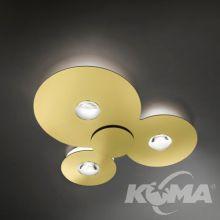 Bugia lampa sufitowa 3x18W LED 2700K 4500lm. złota
