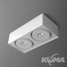 Squares Mini oprawa sufitowa 2x6,3W LED 230V biała (mat)