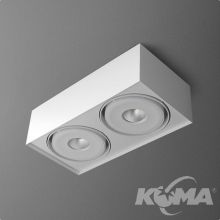 Squares Mini oprawa sufitowa 2x9,1W LED 230V biała (mat)