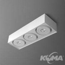 Squares Mini oprawa sufitowa 3x6.3W LED 230V biała (mat)