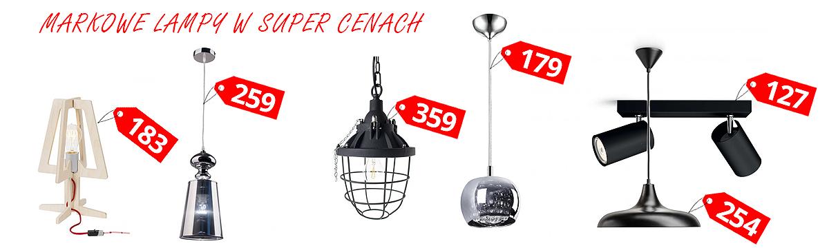 Markowe lampy w super cenach.