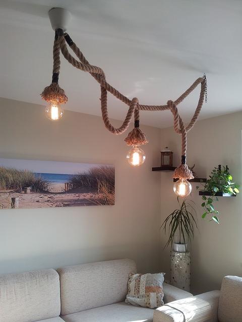 lampy sznur do salonu