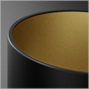 Pet Fine oprawa sufitowa czarno-złota 1x50W GU10 230V