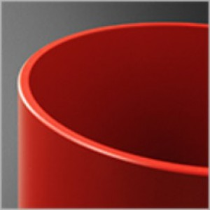 Reflektor czerwony (mat) 2x50W E27 230V
