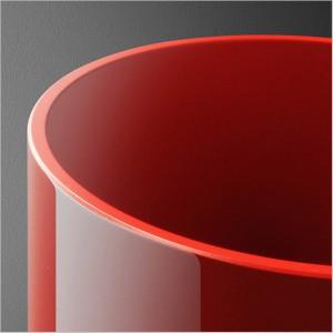 Reflektor czerwony (połysk) 2x50W E27 230V