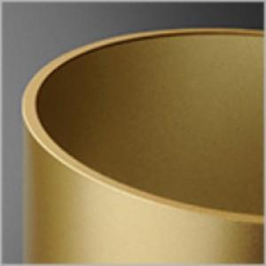 Modern Glass Barrel TP lampa wisząca 6W LED 2700K 230V złota struktura (fi45)