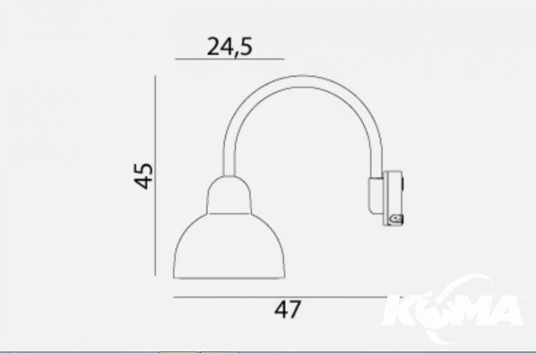 Koster  grafitowy kinkiet zewnętrzny led 1x26W IP54 A