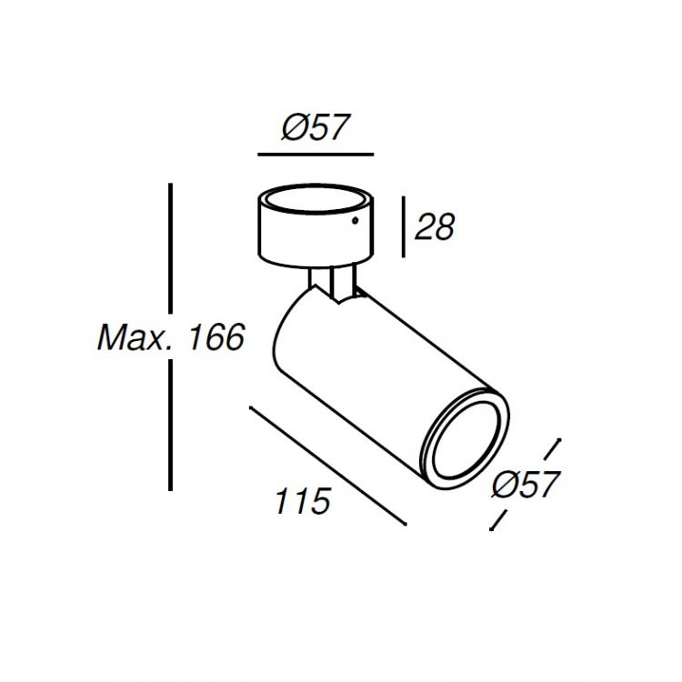 reflektor natynkowy natynkowy biały Simple_spotlight LEDS C4