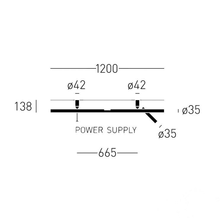 kinkiet prawy czarny LED Backlight_120R CHORS
