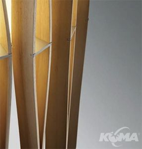 lampa podlogowa e27/23W drewno Stick FABBIAN