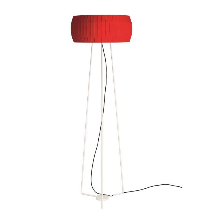 Isamu lampa podłogowa 2x100W E27 230V czerwona
