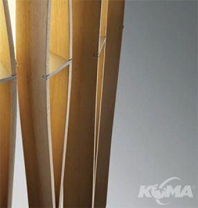 Stick lampa podlogowa e27/23W drewno