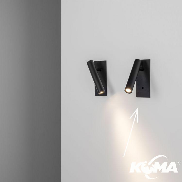 reflektor wpuszczany z włącznikiem czarny Moi_C_IN CHORS