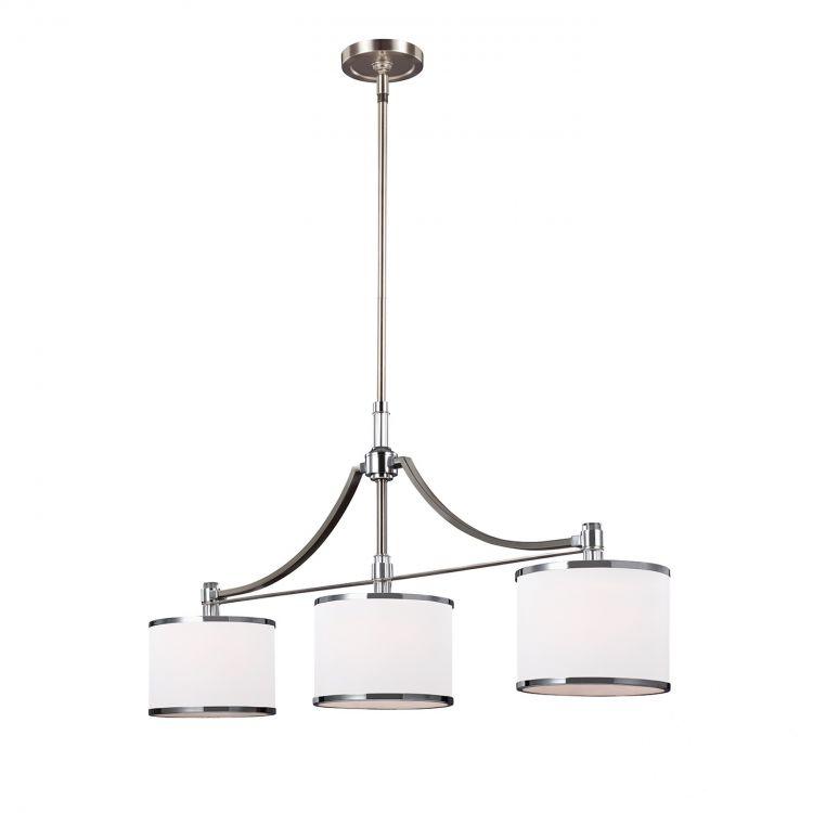 Prospect Park lampa wisząca 3x60W E27 230V satynowany nikiel-chrom