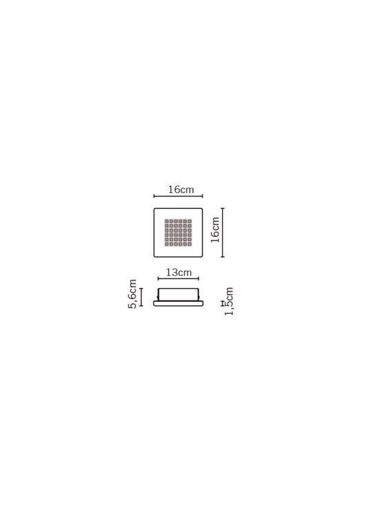 Quadriled oprawa sufitowa led 15W IP40