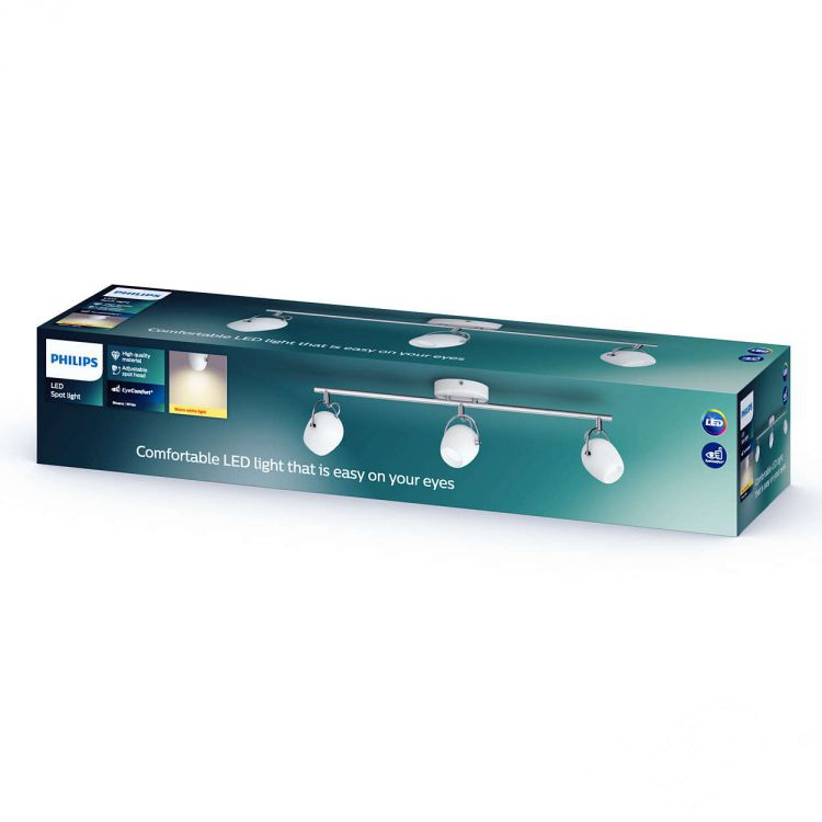 Rivano reflektor 3x4,3W LED 230V biały