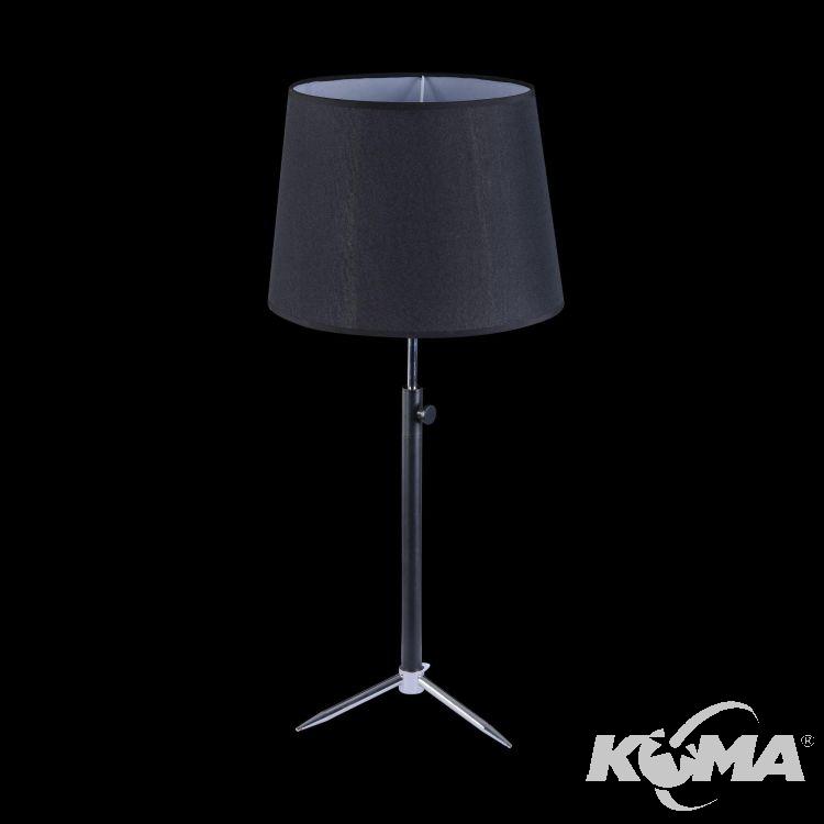 Monic lampa stołowa 1x40W E27 230V czarnaelementy chromu
