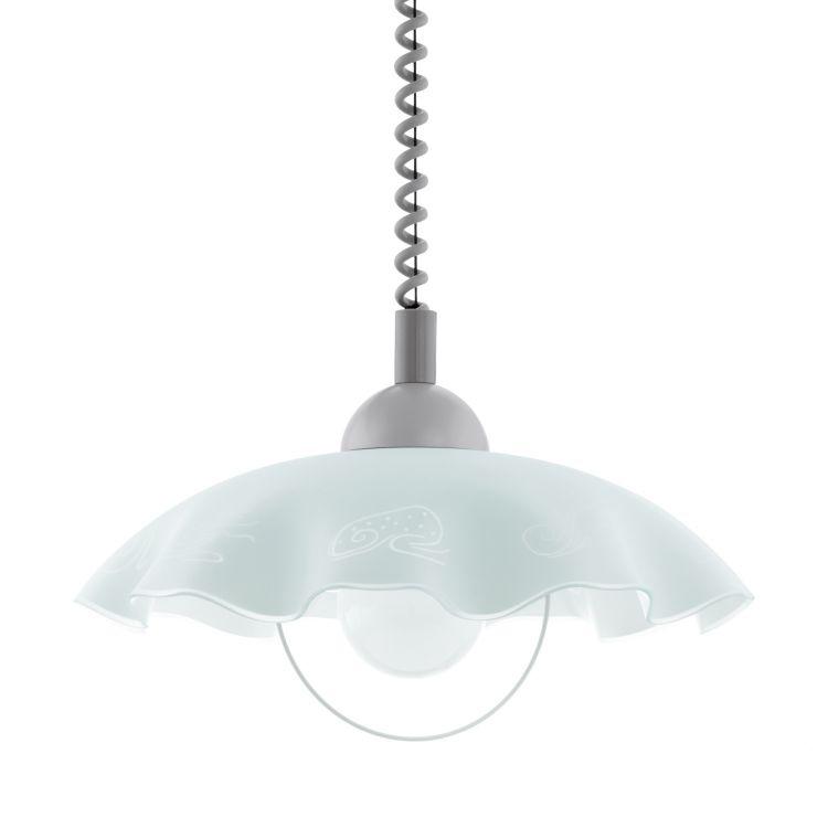 Brenda lampa wisząca 1x60W E27 230V biała