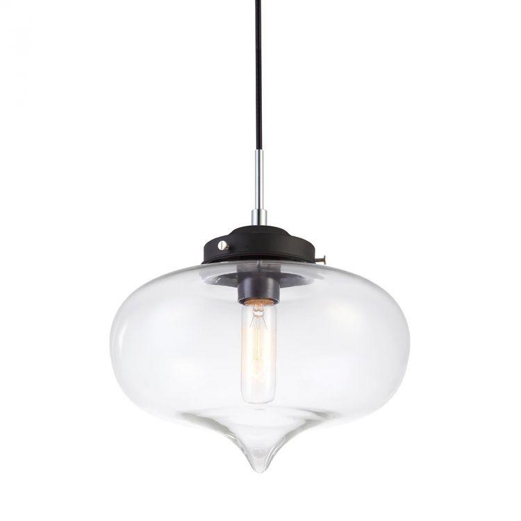 Heart lampa wisząca 1x40W E27 czarny, szkło