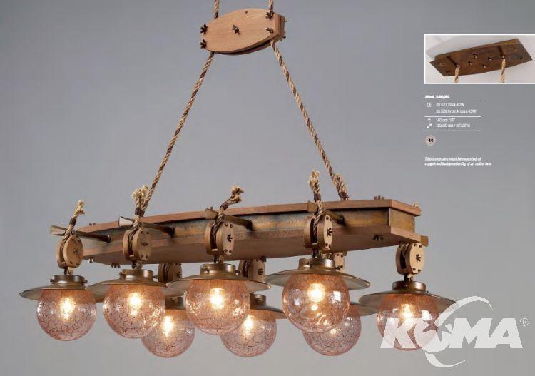 lampa wisząca z akcentem marynistycznym  Cadernal LUSTR ARTE