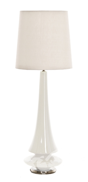 White Lampa stołowa + ABAZUR TD30-7450T  Spin ELSTEAD