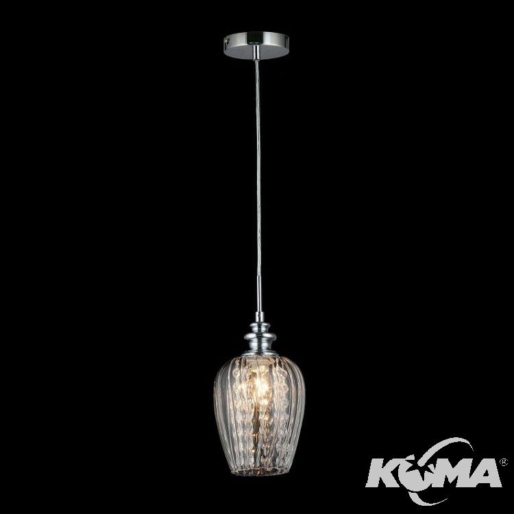 Blues lampa wisząca 1x40W E14 230V nikiel/transparentny klosz