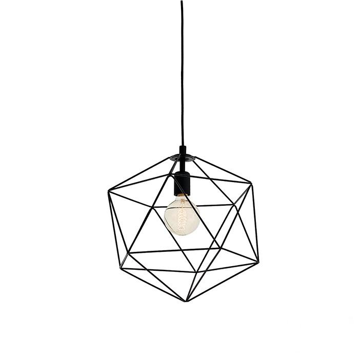 Wire M lampa wisząca 1x60W E27 230V czarna