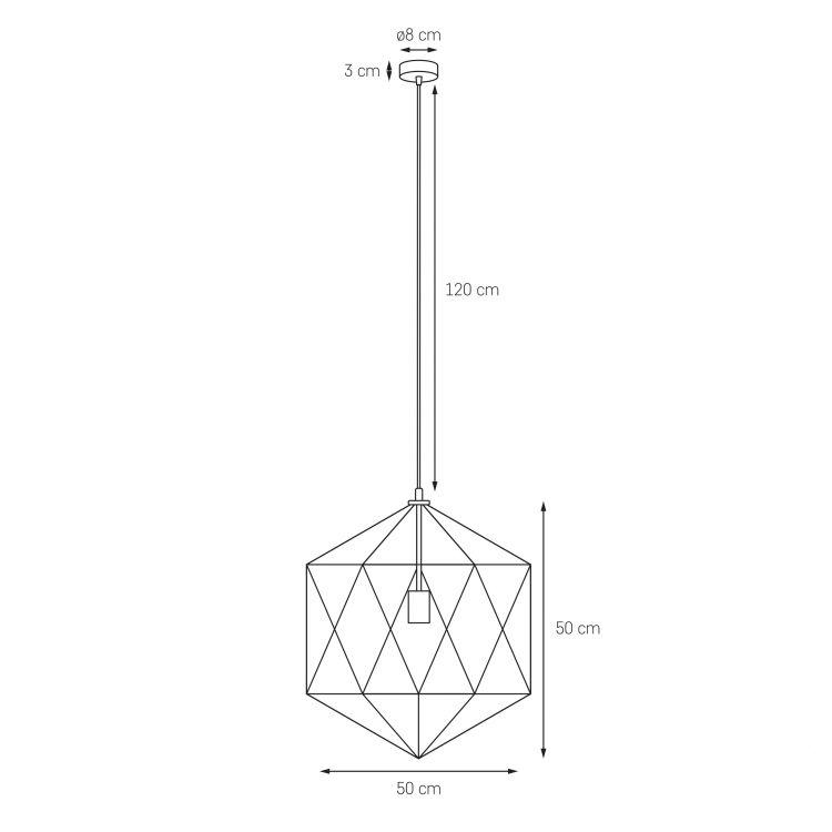 Wire L lampa wisząca 1x60W E27 230V czarna