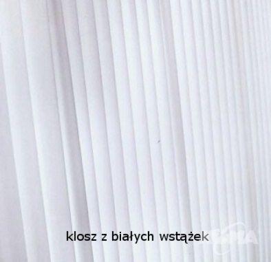 Wall street fl kinkiet 1x60W e27+1x1.2w led nikiel/wstazka biala