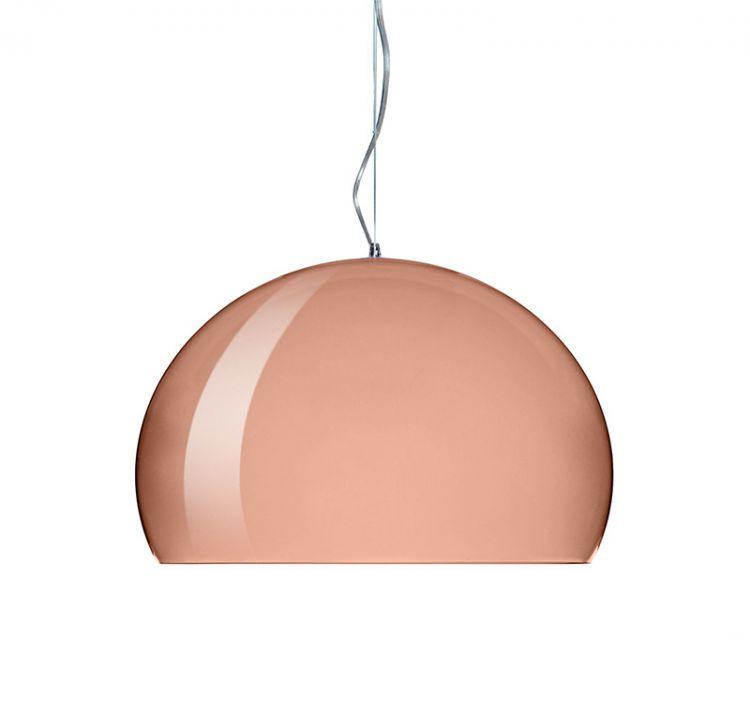 Fl/y lampa wisząca 1x25W E27 52cm miedziany