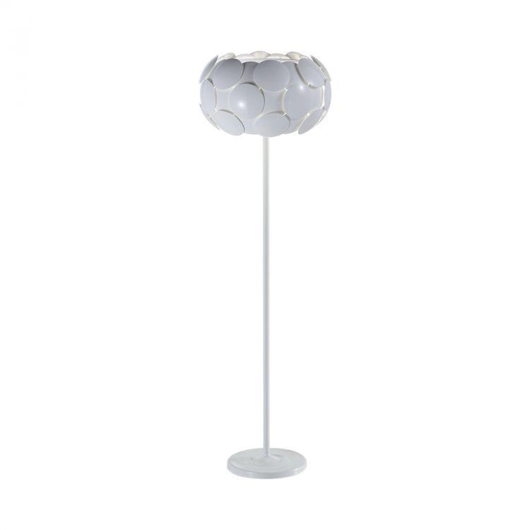 Santina lampa stojąca 4x60W E27 230V biała