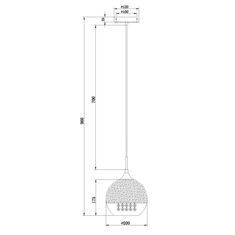 Fermi lampa wisząca 1x60W E27 230V nikiel