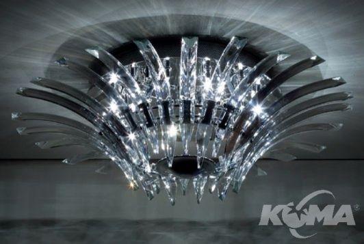 Kristal plafon 12x20W G4 d72cm chrom