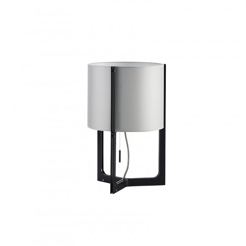 Nirvana lampa podlogowa E27/150W nikiel mat/czarny  abazur