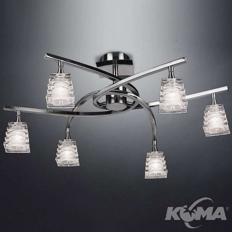 Keops lampa sufitowa 6x40W G9 230V satynowany nikiel
