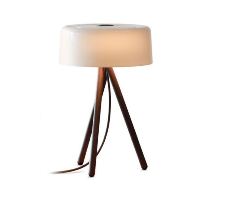 lampka stołowa dąb ciemny / porcelana chinska My_table TOBIAS GRAU
