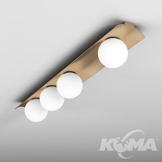 ball WP x4 LED L927 natynkowy miedż Modern AQFORM