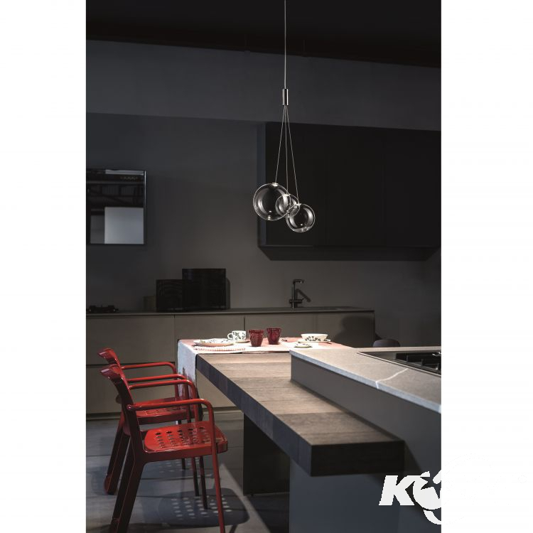 Random lampa wisząca 3x1W LED 230V transparentna