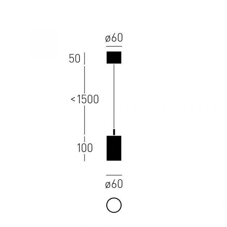 lampa wisząca czarna Qua+_10_Z CHORS