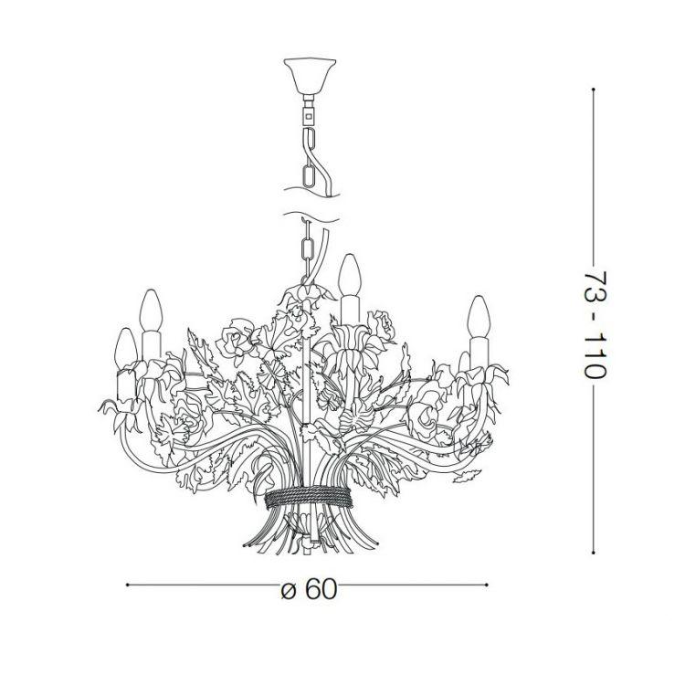 lampa wisząca żyrandol Camilla IDEAL LUX