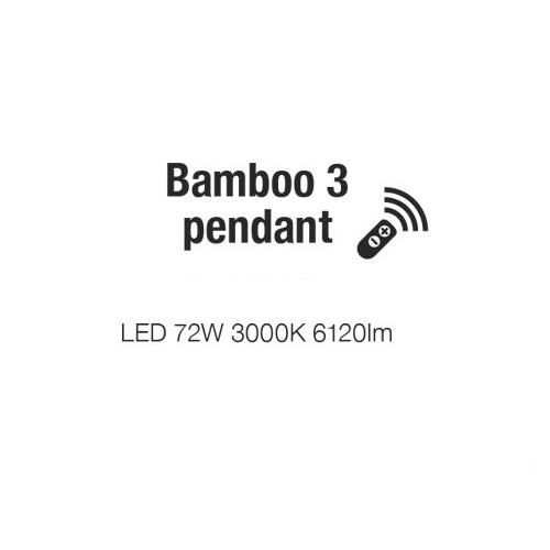 Bamboo lampa wisząca 72W LED 3000K biała (ściemnialna)