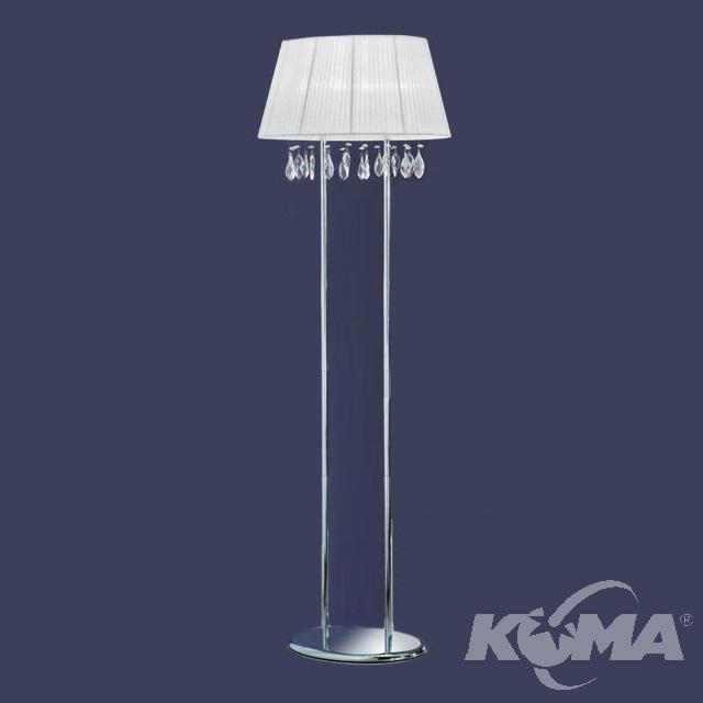 Organza chrom/weis lampa podłogowa