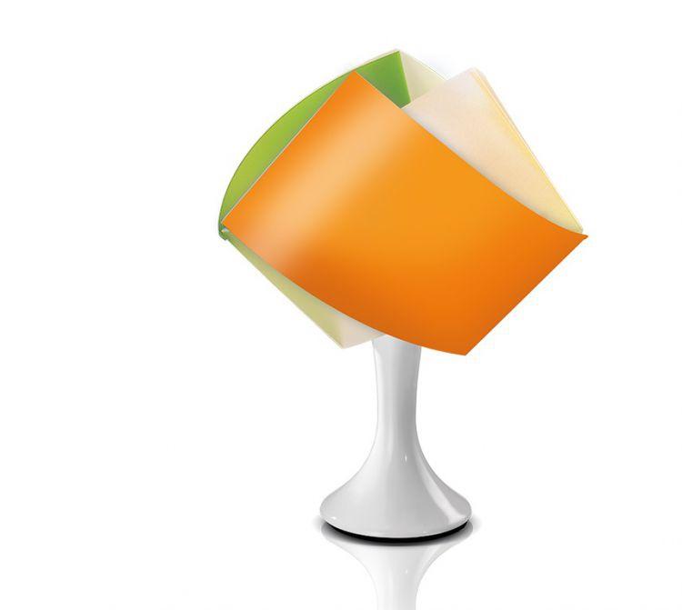 GEMMY abatjour lampka stołowa 1x40W E14 h33cm pomarańczowy/żółty/zielony